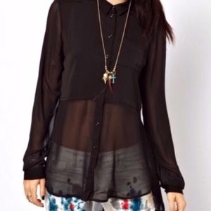 Free People~Best of Both Worlds Panel Blouse~Small
